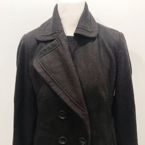 NYC Jackets & Coats - NEW YORK COMPANY 8 Peacoat Solid Dark Brown Wool